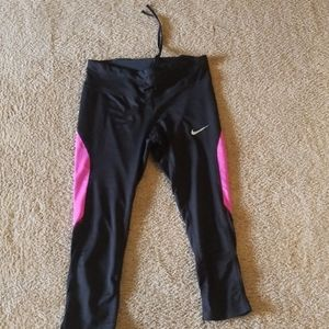 Pink and black cropped leggings